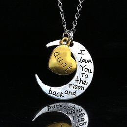 $enCountryForm.capitalKeyWord Australia - Unique Design New Moon Love Necklace Family Letter Pendant Fashion Designer Matching All Kinds Of Clothing