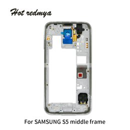 $enCountryForm.capitalKeyWord Australia - 10Pcs Middle Housing for Samsung Galaxy S5 G900 G900V G900W G900F Middle Frame Back Bezel Repair Replacement Parts