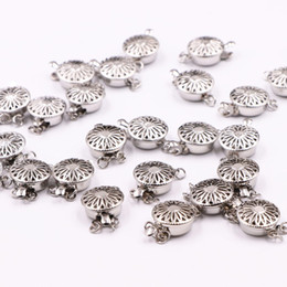 $enCountryForm.capitalKeyWord Australia - 20PCS Wholesale Snap Clasps Hooks Button Metal Accessory Finding for DIY Necklace Bracelet Machining Parts Jewelry Making A532