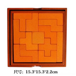 wooden burr puzzles Australia - Burr NerveRacking Thirteen Block Other Toys Tangram Jigsaw Puzzle Wooden Teaching Aid Luban Lock 3D Puzzle Model Educational Toy