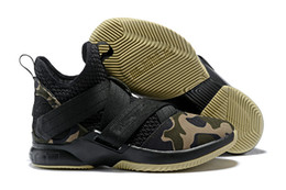2264f9a64134 Top qualiTy lebron shoes online shopping - 2018 Top quality lebron Soldier  XII EP Black Gold