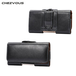 $enCountryForm.capitalKeyWord NZ - CHEZVOUS Waist Packs for iPhone 8 7 7plus 6 X Case Belt Clip Holster Leather Mobile Phone Cases for Samsung S8 S7 S6 edge S6 S5