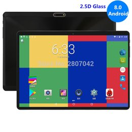 tablets 3g dual core 2019 - Super 2.5D Tempered Glass IPS 10 Inch Tablets 4GB RAM 64GB ROM MTK8752 Octa Core 3G 4G LTE FDD Dual Sim Cards PC Tablet