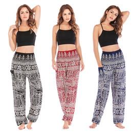 $enCountryForm.capitalKeyWord Australia - Explosion models Thailand casual yoga pants bloomers yoga clothes women's cotton silk pattern multi-color optional comfortable ladies trouse
