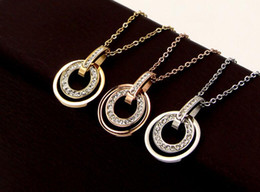 Mud Chains Australia - Temperament fashion full diamond curved D buckle circle necklace Influx personality super flash mud drill with drill clavicle chain