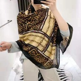leopard scarf cotton Australia - Wholesale New fashion women's Scarf Autumn Shawl Leopard scarves women's long cotton and linen scarf Travel Wrap Free shiiping