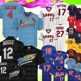 Tony gwynn baseball online shopping - 4 Yadier Molina Retro St Louis Smith Cardinals Jersey Wade Boggs Mike Trout Mets Darryl Strawberry Tony Gwynn Padres