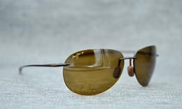 Toptan satış Jim Güneş gözlükleri   Şeker Plajı H421   Çerçevesiz Çerçeve, Polarize Lensler