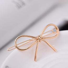 $enCountryForm.capitalKeyWord Australia - New Vintage Hairpins Metal Bow Knot Hair Barrettes Girls Women Hair Accessories Hairgrips New Brand Holder Clip