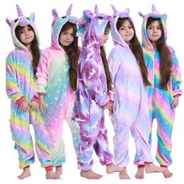 Wholesale cosplay pyjama panda for sale – halloween Children Unicorn Pajamas Kids Baby Animal Overalls Jumpsuit Onesie Panda Stitch Sleepwear Girls Cosplay Pyjama Pijamas Y200704