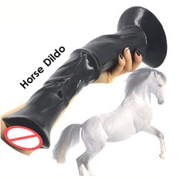 $enCountryForm.capitalKeyWord Australia - Huge Horse Dildo Big Extreme Animal Dildo Suction Cup Realistic Phallus Large Penis Flexible Strong Dick Sex Toys For Women