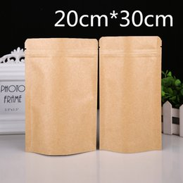 bags for coffee beans Australia - DHL 7.9''x11.8'' (20x30cm) Stand Up Kraft Paper Aluminum Foil Storage Bag For Coffee Powder Beans Pack Zipper Lock Doypack Pouch