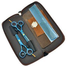 "$enCountryForm.capitalKeyWord Australia - Meisha 5.5"" Professional Hairdressing Scissors Sets Pretty Blue Barbers Hair Cutting Shears Trimming Thinning Tesoura Styling Tools HA0043"