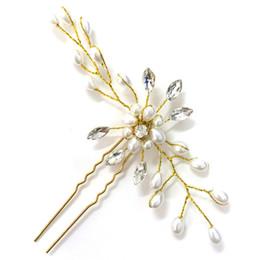 $enCountryForm.capitalKeyWord Australia - 3 pieces Bridal Wedding Tiaras Handmade Pearl Crystal Hair Comb for bride Headwear Wedding Side Hair Comb Hairpins Wedding Accessories
