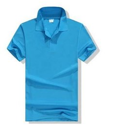 Wholesale customs tees online – design Soccer wear Tees Turn over collar short sleeve shirt custom logo work clothes T shirt printed cultural POLO enterprise group suit