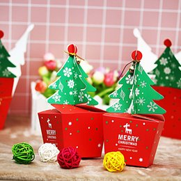 $enCountryForm.capitalKeyWord Australia - Christmas Tree Pattern Jar Sugar Box Party Paper Favor Gift Sweets Boxes Carrier Bags Merry Christmas Party Decoration