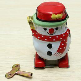 $enCountryForm.capitalKeyWord Australia - [TOP] Adult Collection Retro Wind up Metal Tin Pull back waiking The Snowman toy snow man Mechanical Clockwork toy