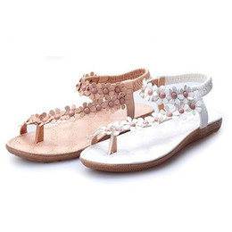 $enCountryForm.capitalKeyWord Canada - Summer New Fashion Woman Bohemian Sandals Shoes Clip Toe Flowers Flat Shoes Sandals