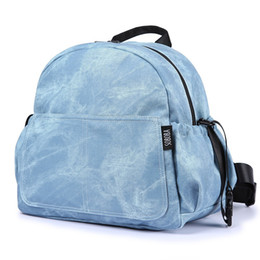 mother changing diaper UK - Fashion Large Capacity Baby Diaper Bag Stylish Stroller Backpack for Nappy Changing Blue Maternity Travel Baby Bag for Mother