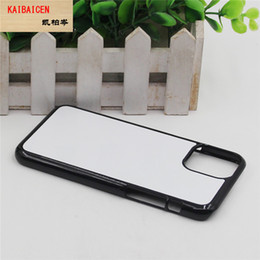 plastic sublimation NZ - For IPhone 11 Pro XR XS Max 8 PLUS 7 6 6S 5C 4 DIY 2D Sublimation Blank Hard Plastic Mobile phone Cover Case With Gule and Aluminium Plate