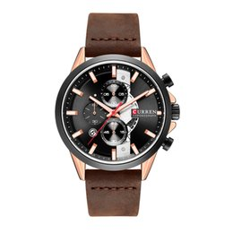 $enCountryForm.capitalKeyWord UK - Curren 8325 Belt New Three-Eye Six-Needle Timing Sports Men's Watch Fashion Business Calendar Waterproof Quartz Watch