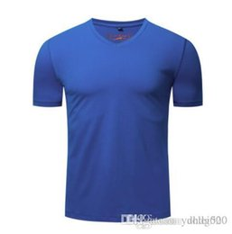 $enCountryForm.capitalKeyWord Australia - Spring and summer new solid color short-sleeved European and American men's short-sleeved T-shirt cotton net color V-neck tshirt