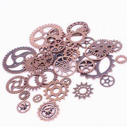 $enCountryForm.capitalKeyWord Australia - Sweet Bell Mix 150 pcs Antique Copper Charms Gear Pendant Antique bronze Fit Bracelets Necklace DIY Metal Jewelry Making D0537