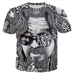 Wholesale newest summer t shirts for sale – custom Newest Design Womens Mens Big Lebowski Funny Short Sleeves D Print T shirt Unisex Summer Style Casual T shirt RR041