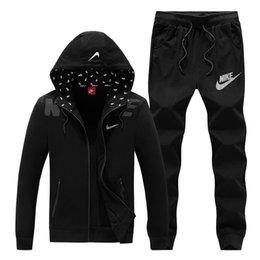 Venta al por mayor de Sudadera con capucha y sudadera deportiva para hombre Pantalones de chaqueta para hombre Jogging Jogger Set Cuello alto Ropa deportiva Ropa deportiva