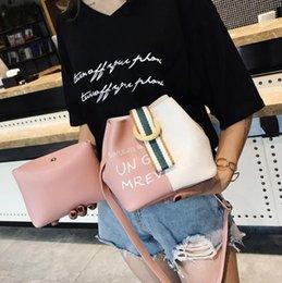 $enCountryForm.capitalKeyWord Australia - Ins bag female 2019 summer new explosion models Korean version of the female hit color hand shoulder shoulder slung bucket bag powder