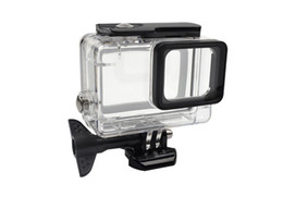 dive housing UK - Wholesale Gopro accessopries 45m Underwater Diving Waterproof Protective Case Shell Cover Housing Skeleton frame for Gopro hero 5 6