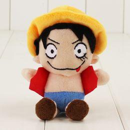 $enCountryForm.capitalKeyWord NZ - 2019 10pcs set Kawaii ONE PIECE Monkey D Luffy Plush Toys Soft Pleuche Anime Doll Baby Kids Gift with sucker