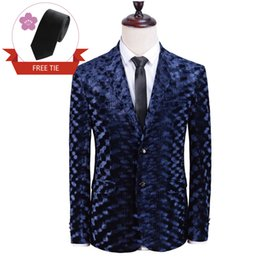 stylish formal suits Australia - Luxury Velvet Embossed Design Suit Jacket Fine Stylish Quality Formal Wedding Blazer Tuxedos Dinner Prom Dinner Suits