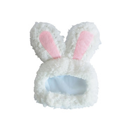 White Cosplay Ears UK - Pet Cat Rabbit Headgear Dog Cute Rabbit Ears Hat Photo Cute Dress Cosplay Accessories Small White Hat