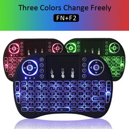 Mini i8 Keyboard Backlit 2.4G Wireless Fly Air Mouse Rechargeable With Backlight Touchpad Remote Controlers For MXQ pro X96 TV Box on Sale