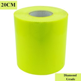 $enCountryForm.capitalKeyWord NZ - 20CM*45M Fluorescent Yellow Diamond Grade Prismatic Reflective Sheeting Conspicuity tape Truck Safety Markings Warning Strips