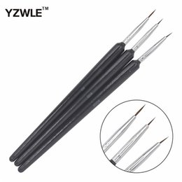 professional kolinsky acrylic nail brush Canada - Tools Brushes YZWLE 3PCS 1Set Kolinsky Acrylic Brush Professional Brushes Nail Tools Fashion Nail Art Brush for Manicure 14