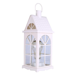 Sunny 1pc European Wrought Iron Window Molding Glass Windproof Light Bulb Shape Table Lamp Wedding Garden Home Decoration Hanging Lamp Home & Garden Candle Holders