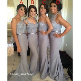 Spring Water Quality Canada - 4 Styles Dark Gray Bridesmaid Dress High Quality Formal Long Maid of Honor Dress Wedding Party Gown