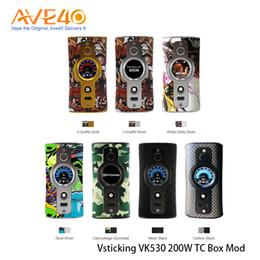 box mod tc 2019 - Vsticking VK530 200W TC Box Mod 1.3 inch TFT Screen Compitable with Dual 18650 Battery 100% Original cheap box mod tc