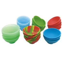 $enCountryForm.capitalKeyWord UK - 20pcs lot Food Grade Silicone Pinch Bowl Non Stick Silicone Jars Wax Container Tobacco Cigarette Bho Oil Bowl Dabs Wax Storage Jar