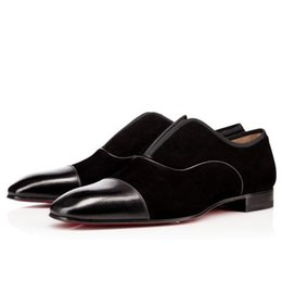 Famous male shoes online shopping - Designer Famous Brand Gentleman Red Bottom Alpha Male Loafers Flat Men Oxford Shoes Slip On Wedding Party Business Luxury BF Gift With Box
