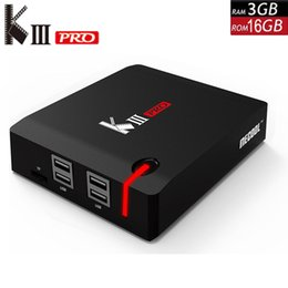 Discount android tv box dvb t2 MECOOL KIII PRO DVB-S2 DVB-T2 DVB-C Decoder Android 7.1 TV Box 3GB 16GB K3 Pro Amlogic S912 Octa Core 64bit 4K Combo Set