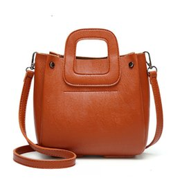 Discount top cell phone sales - good quality 2019 Pu Leather Shoulder Bag Ladies Top-handle Handbags Famous Brands Women Tote Casual Crossbody Bag Hot S