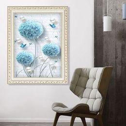 $enCountryForm.capitalKeyWord Australia - 1pcs DIY 5D Diamond Painting Kits Embroidery Dandelion Cross Stitch kits living room mosaic pattern Home Decor 30*40cm