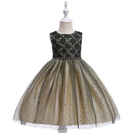 shop spring Canada - New Arrival Spring and Summe Grenadine sequins children's Princess Dress For Wedding Kinds of Colors Free Shopping