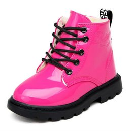 $enCountryForm.capitalKeyWord NZ - 2019 New Fashion Winter Children Shoes PU Leather Waterproof Boys Girls Martin Boots Kids Snow Boots Brand Baby Kids Rubber Boots Sneakers
