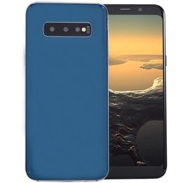 cheap bluetooth mp3 dual 2019 - Cheap Goophone S10+ V2 Clone 3G WCDMA Quad Core MTK6580 1GB 4GB Android 9.0 6.4 inch Curved Full Screen HD Metal Frame G