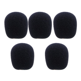$enCountryForm.capitalKeyWord UK - 5PCS Black Microphone Headset Foam Sponge Windscreen Mic Cover
