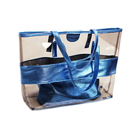 Clear totes wholesale online shopping - WENYUJH Bags For Women New Shopper Bag Beach Clear Bag Pieces Summer Tote Fashion Handbags For Girls Transparent Handbags